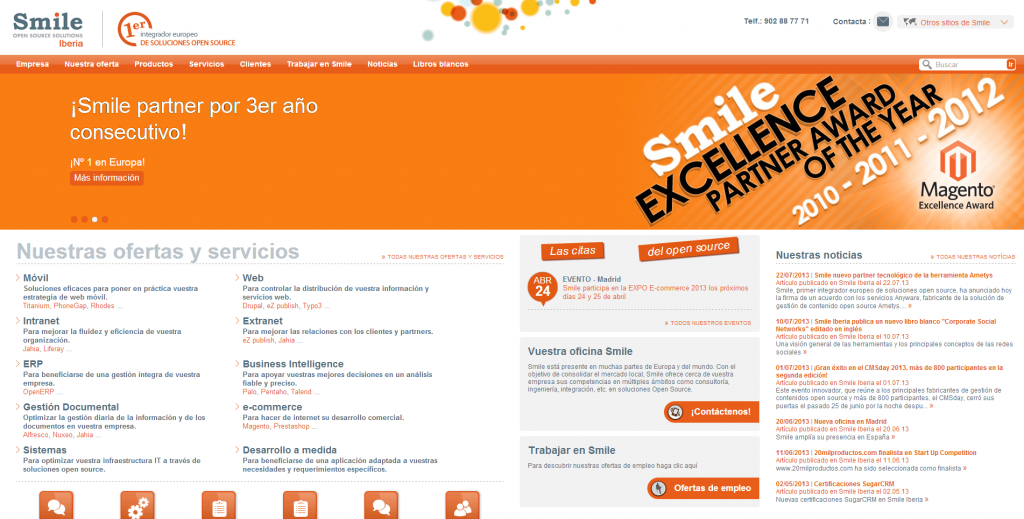 Smile - Primer integrador europeo de soluciones open source